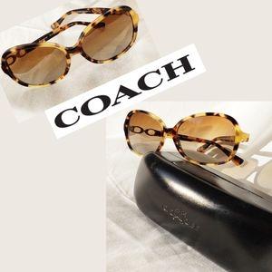 Coach Polarized Sunglasses Tortoise Like New